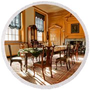 Historic Governor Council Chamber Round Beach Towel