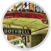Historic Hotel Bothwell Round Beach Towel