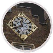Historic London Clock Round Beach Towel
