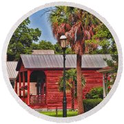 Historic Pensacola With Added Color Round Beach Towel