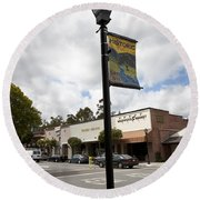 Historic Saratoga Village Round Beach Towel