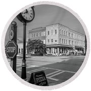 Historic Small Town In South Where Round Beach Towel