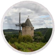 Historic Windmill Round Beach Towel