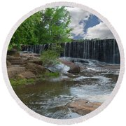Historic Yates Mill Dam - Raleigh N C Round Beach Towel