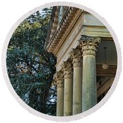 Historical Athens Alabama Courthouse Round Beach Towel