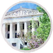 Historical Museum In Spring Round Beach Towel
