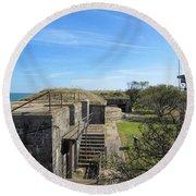 Historical Fort Wool Virginia Landmark Round Beach Towel