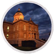 Historical Placer County Courthouse Round Beach Towel