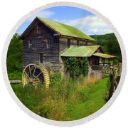 Historical Whites Mill Round Beach Towel by Karen Wiles