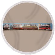 History Of The Toronto Streetcar Round Beach Towel