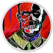 Hitler  - The  Face  Of  Evil Round Beach Towel