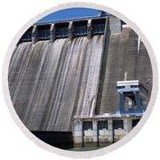 Hiwassee Dam 3 Round Beach Towel