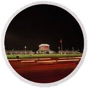 Ho Chi Minh Mausoleum Hanoi Round Beach Towel