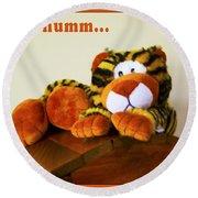 Ho Hummm Tiger Round Beach Towel