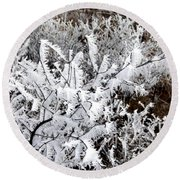 Hoarfrost 18  Round Beach Towel