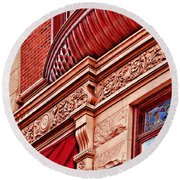 Hoboken Brownstone Art Round Beach Towel