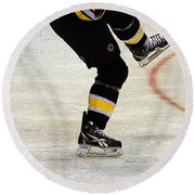 Hockey Dance Round Beach Towel