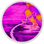 Hockey Freeze Round Beach Towel