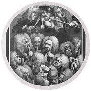Hogarth: Physicians, 1736 Round Beach Towel