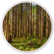 Hoh Rain Forest Round Beach Towel