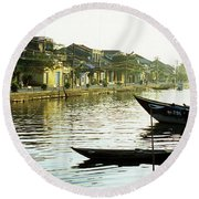 Hoi An Dawn 01 Round Beach Towel