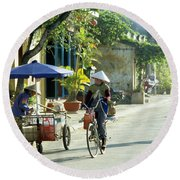 Hoi An Early Morning Round Beach Towel