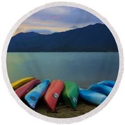 Holding On To Summer Round Beach Towel by Heidi Smith