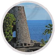 Hole In The Tower Round Beach Towel