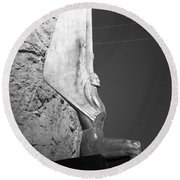 Holga Winged Figures Of The Republic Side View Round Beach Towel