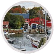 Holiday At Rockport Round Beach Towel