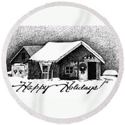 Holiday Barn Round Beach Towel