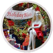 Holiday Bliss Round Beach Towel