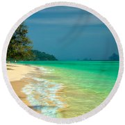 Holiday Destination Round Beach Towel
