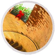 Holiday In The Lighthouse Round Beach Towel