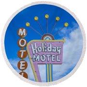 Holiday Motel Round Beach Towel