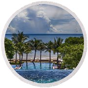 Holiday Resort With Jacuzzi And Pool Round Beach Towel