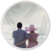 Holiday Romance Round Beach Towel