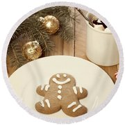 Holiday Treats Round Beach Towel by Juli Scalzi