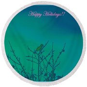 Holiday With Nature Round Beach Towel