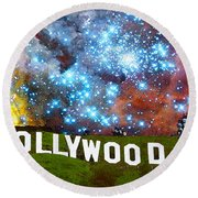 Hollywood 2 - Home Of The Stars By Sharon Cummings Round Beach Towel