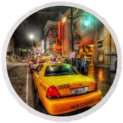 Hollywood Boulevard Round Beach Towel