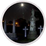 Hollywood Cemetery Moon Burst Round Beach Towel