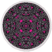 Hollywood Hills Round Beach Towel