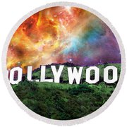 Hollywood - Home Of The Stars By Sharon Cummings Round Beach Towel