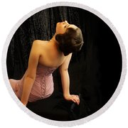 Hollywood Starlet Round Beach Towel