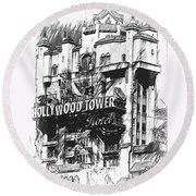 Hollywood Tower Round Beach Towel