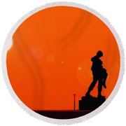 Holocaust Memorial - Sunset Round Beach Towel