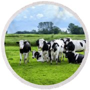 Holstein Heaven Round Beach Towel