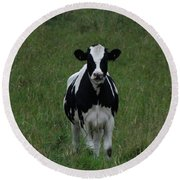 Holstein Hello Round Beach Towel