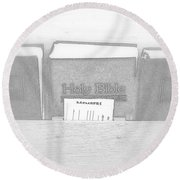 Holy Bible Round Beach Towel